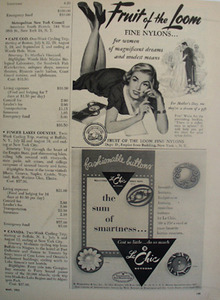 Le Chic Buttons Sum of Smartness Ad 1951