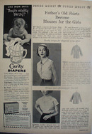 Fathers Shirts Become Blouses For Girls Article 1952