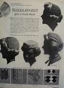 Needlepoint Gets Head Start Article 1953,