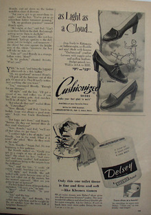 Cushionized Shoes Light As Cloud Ad 1953