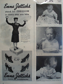Enna Jetticks Shoes Stand For Freedom Ad 1942