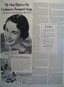 Cashmere Bouquet Soap Shirley Chandler Ad 1953