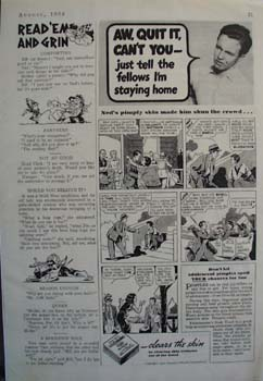 Fleishmanns Clears Neds Skin Ad 1936