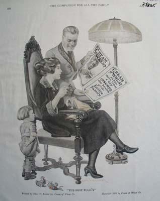 Cream of Wheat Family Ad 1922