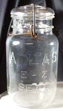 ATLAS E Z SEAL Clear Qt Canning Jar