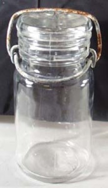 Unmarked Clear Half Pint Canning Jar