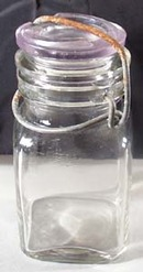 Square Unmarked Half Pint Canning Jar