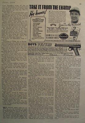Louisville Slugger Bats And Joe Sducky Medwick Ad 1938