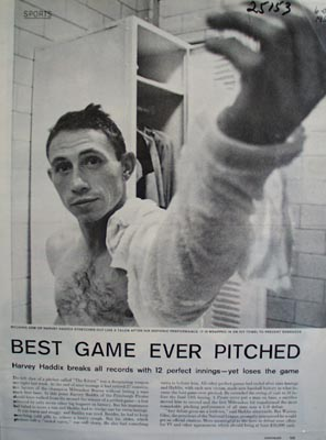 Hero Haddix Pitcher for Pirates Picture 1959
