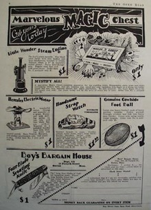 Boys Bargain House Marvelous Magic Chest Ad 1928
