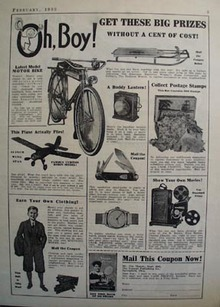 Crowell Pub Co Get These Big Prizes Ad 1933