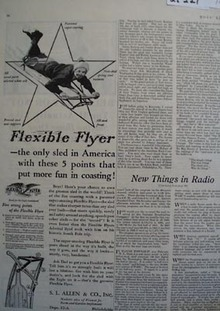 Flexible Flyer Put More Fun In Coasting Ad 1931