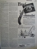 American Flyer Book of Trains Ad 1927