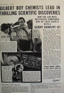 A.C.Gilbert Co Boy Chemists Lead Discoveries Ad 1935
