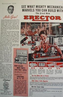 A.C.Gilbert Co Mechanical Marvels Erectors Ad 1935