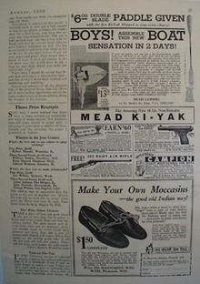 Mead Ki Yak Assemble This Boat Ad 1933