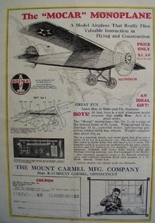 Mount Carmel Mfg Mocar Monoplane Model Article 1928