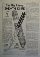 Pioneers Club Big Husky Sheath Knife Ad 1932