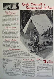 Pioneer Club Tent Grab Summer Full Fun Ad 1932