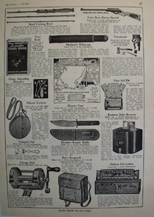 Open Road Subscriptions Steel Fishing Rod Ad 1936