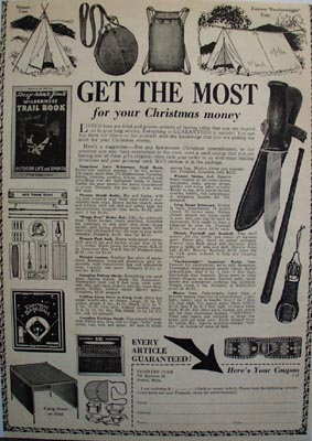 Pioneers Club Christmas Ad 1938