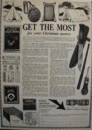 Pioneers Club Christmas Ad 1938