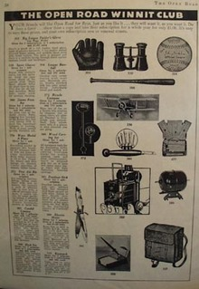 Winnit Club Ten Prizes Shown Ad 1939
