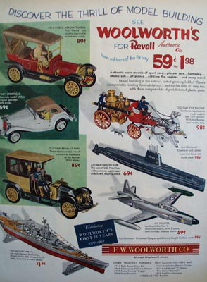 F.W.Woolworth 75th Anniversary Ad 1954