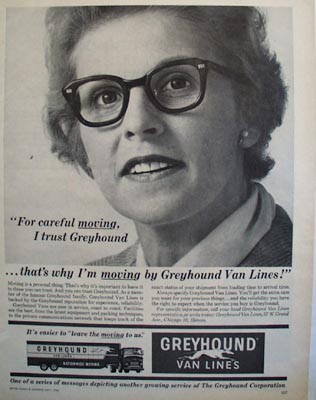 Greyhound Lines For Careful Moving Ad 1964
