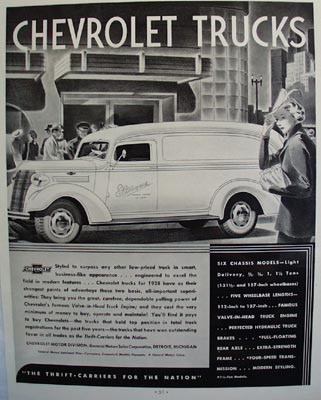 Chevrolet Trucks Stevens Womens Apparel Ad 1938