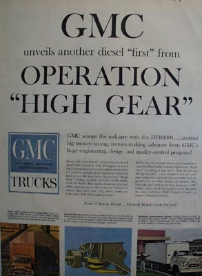 GMC Operation High Gear Ad 1959