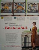 KitchenAid Dish Washer Push A Button Ad 1961