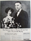 Maytag Washer And Mr And Mrs Glenn Webster Ad 1964