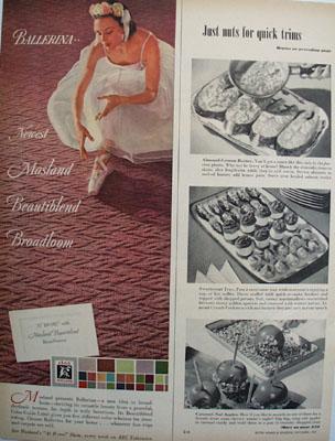 Masland Carpet And Ballerina Ad 1951