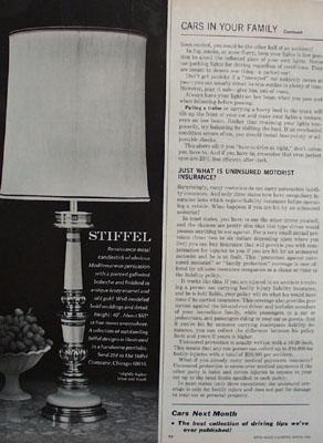 Stiffel Mediterranean Lamp Ad 1966