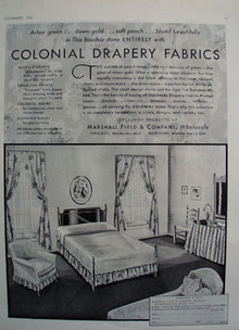 Colonial Drapery Products From Marshall Field Ad 1931