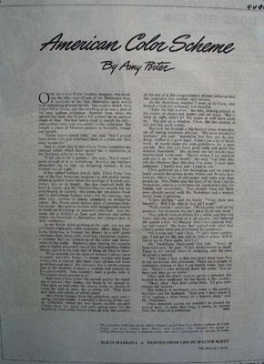 American Color Scheme Clare Potter Article 1945