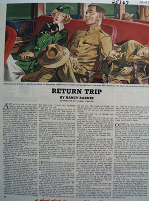 Return Trip Short Story by Nancy Barnes 1944