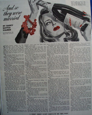 And So They Were Married by Nancy Palmer Story 1943