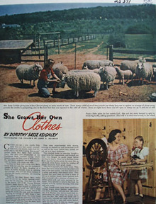 She Grows Her Own Clothes Article 1944