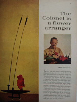 The Colonel Is A Flower Arranger Article 1961