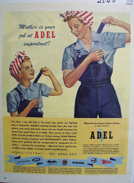 Adel Precision Mom And Daughter Ad 1944