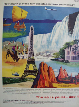 United Aircraft The Air is Yours Ad 1957