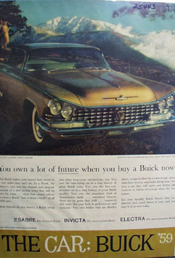 Buick You Own A Lot of Future Ad 1959