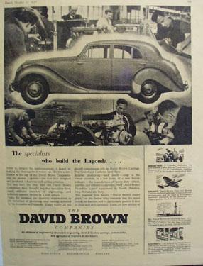 David Brown Builds the Lagonda Auto Ad 1952