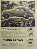 David Brown Builds the Lagonda Auto Ad 1952