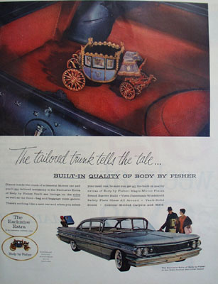 General Motors Tailored Trunk Tells the Tale Ad 1960
