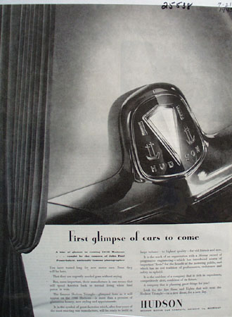 Hudson First Glimpse Of Cars To Come Ad 1945