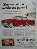 Hudson Hornet Glamour Powerhouse Punch Ad 1954