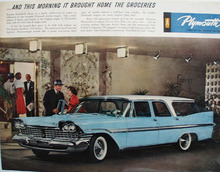 Plymouth Wagon Brought Home Groceries Ad 1959